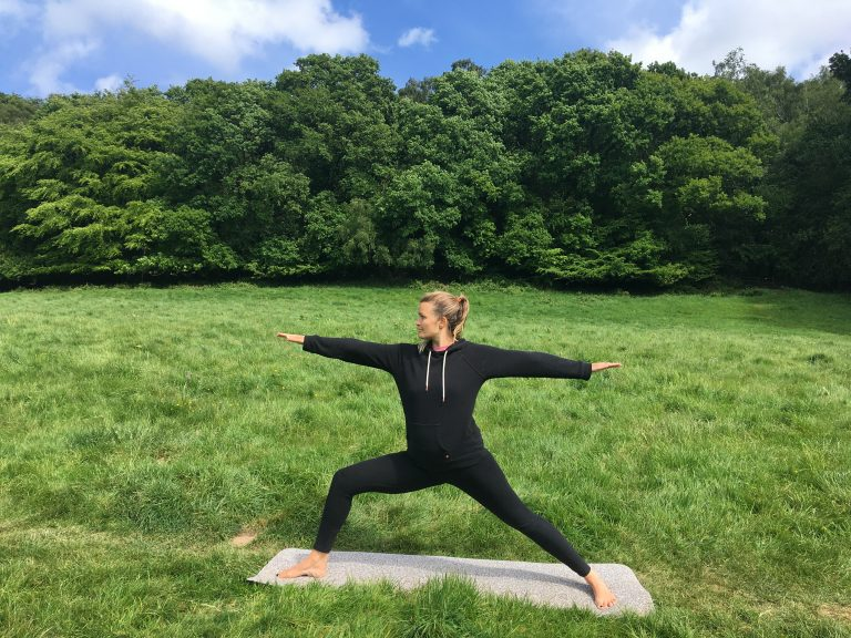 Yoga outside in nature